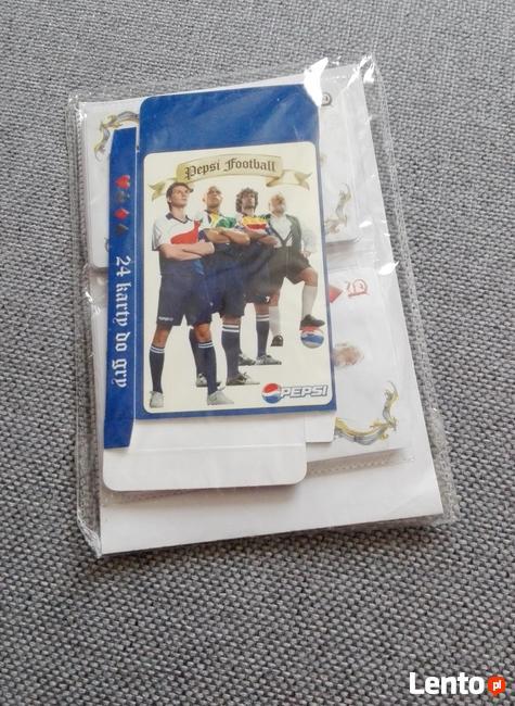 NOWE KARTY DO GRY (POKER) PEPSI FOOTBALL - TALIA 24 KART