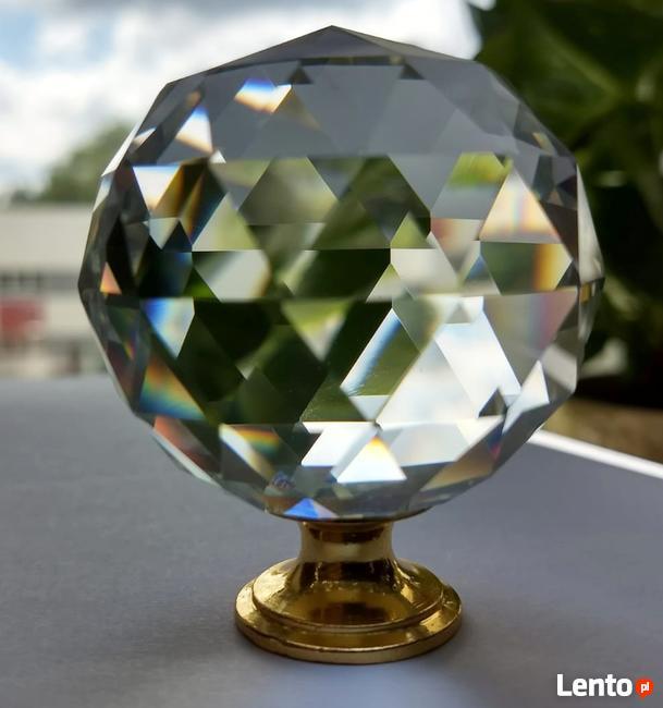 Uchwyt do mebli, gałka kryształowa- super kula 5 cm