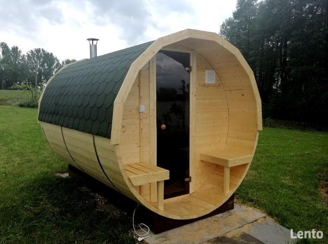 Jedyna taka Sauna Ogrodowa Beczka 250 Komplet Impregnacja