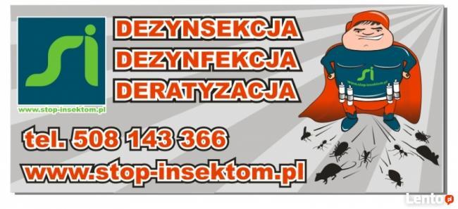 Dezynfekcja Dezynsekcja Deratyzacja Stop-insektom Łódzkie