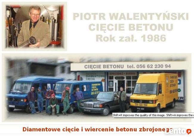 Walentyński Cięcie wiercenie betonu Bydgoszcz tel500213249
