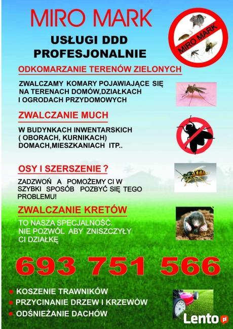 Zwalczamy:Komary;Muchy;Prusaki;Pluskwy;Osy;Szerszenie;Krety;