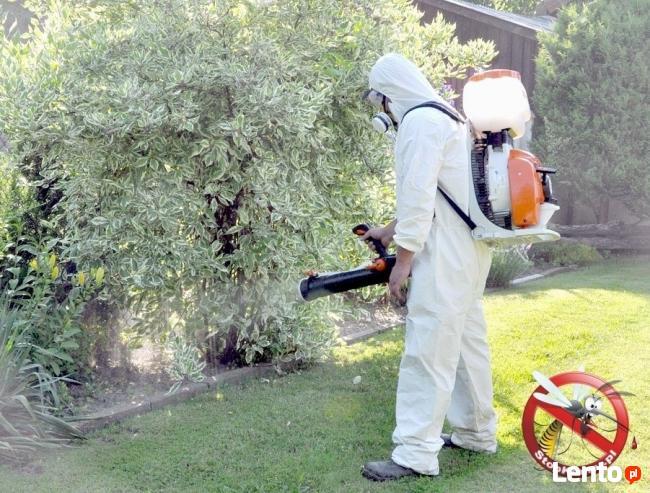 Zwalczanie komarów, meszek, kleszczy -oprysk terenów