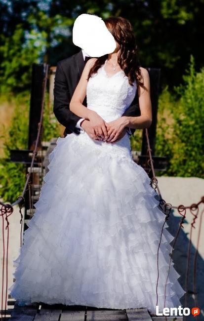 Piękna Suknia ślubna Używana Gratis Bolerko łochów