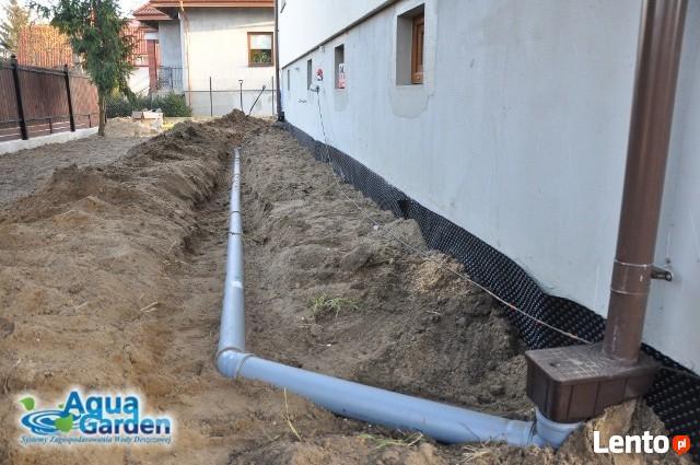 Odprowadzenie wody deszczowej z działki, drenaże odwodnienia