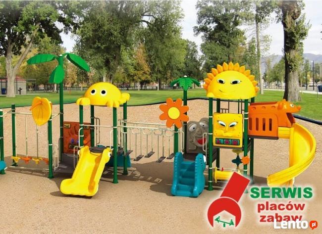 Wymiana piasku i naprawa urządzeń na placach zabaw