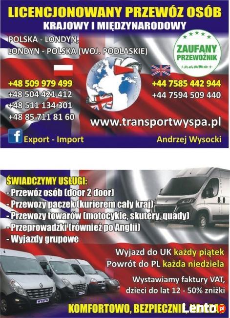 Licencjonowany przewóz osób i rzeczy Polska-Londyn