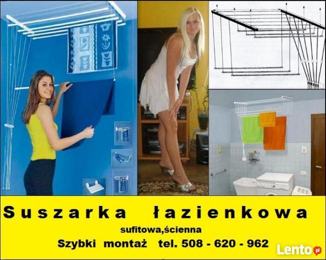 SUSZARKA sufitowa na pranie-profesjonalny montaż.
