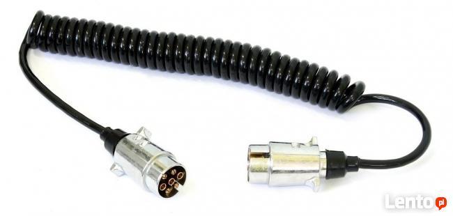 Przewód elektryczny spiralny 12V z wtyczkami do przyczepki