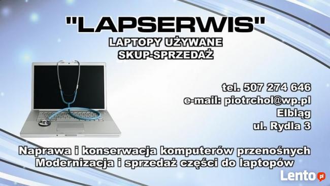 Laptopy używane - Skup - Sprzedaż - Serwis - Elbląg