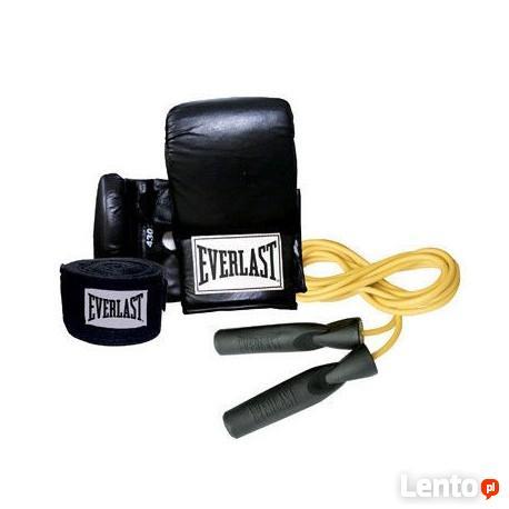 EVERLAST - Zestaw bokserski (rękawice + skakanka + taśmy bok