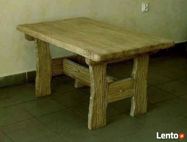 OKAZJA - Rzeźbiony stolik kawowy