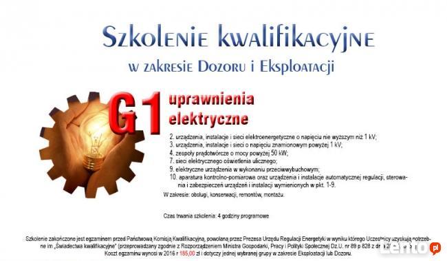 Pomiary ELEKTRYCZNE Kurs Szkolenie SEP G1 D, E