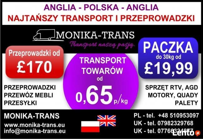 Monika-Trans NajtańszyTransport i Przeprowadzki w UK-PL
