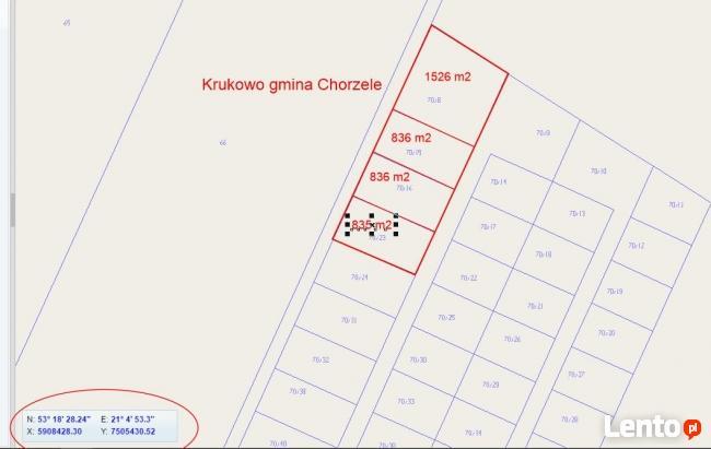835 m 2 Krukowo - Chorzele/Przasnysz