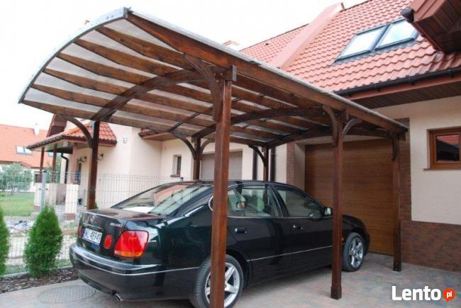 Produkcja drewnianych wiat garażowych