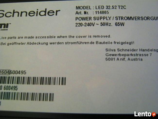 Nowy telewizor 32LED Schneider Silva-650 zl