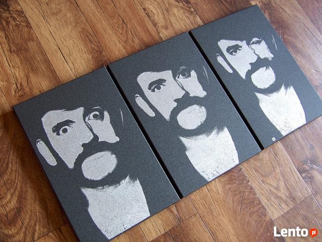 Ręcznie rzeźbiony w blasze Lemmy Motorhead ... prezent