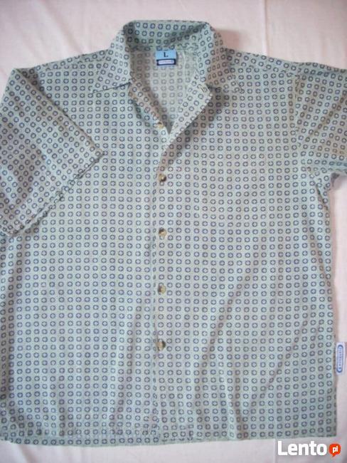 FISHBONE koszula Męska na Lato Wzorek XL XXL