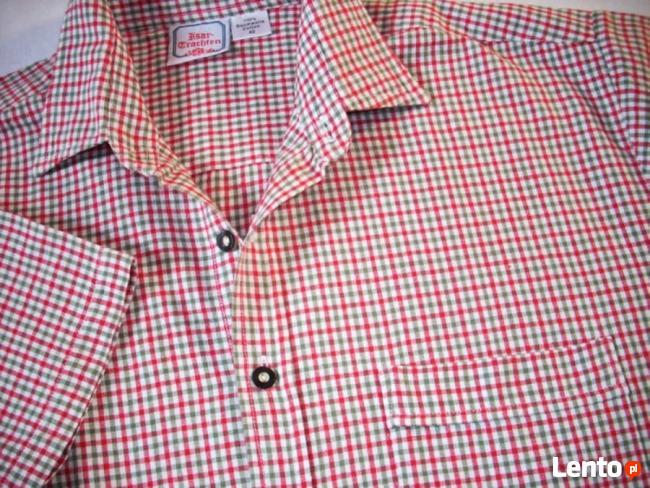 Super koszula Męska Khaki Czerwień J Nowa XL