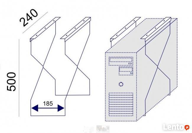 SV-65 kosz kanał poziomy na kable komputerowe pod biurko