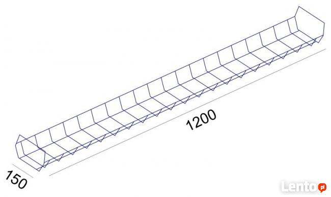 SV-65 Sove kanał poziomy, kosz na kable komputerowe 120 cm
