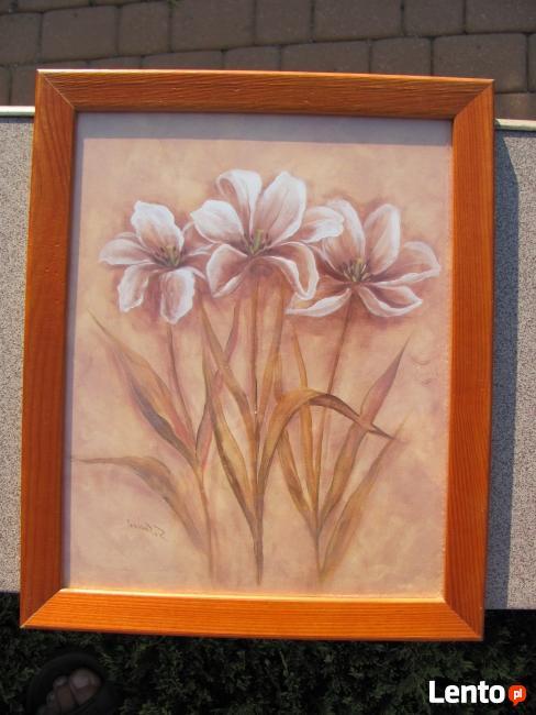 Ładne obrazki w drewnianych ramkach - 34 cm x 28 cm