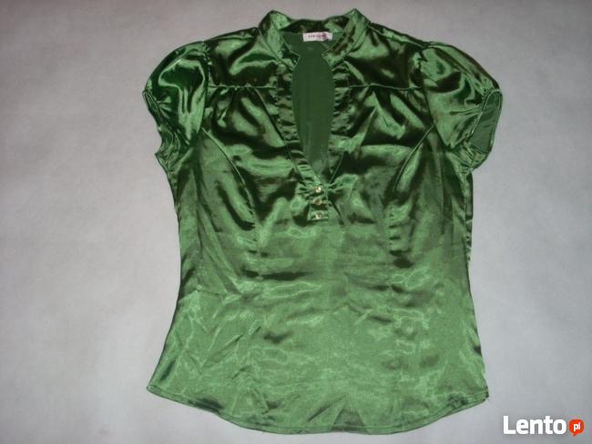 ORSAY koszula bluzka zieleń stójka Satyna 40 L