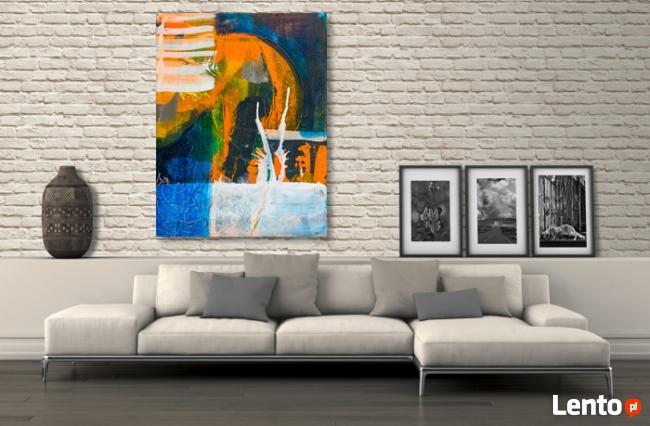 WIELOZNACZNOŚĆ obraz na w 100% bawełnianym płótnie 100x75cm