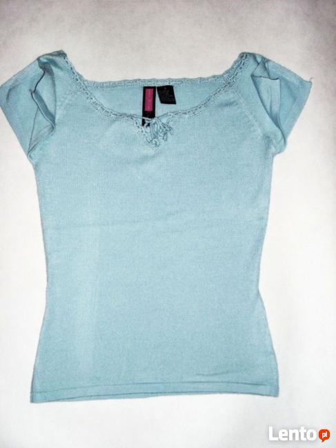 Błękitna Bluzeczka Dzianina 34 XS