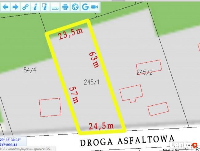 Działka budowlana 1426 m2 Makówka, Grodzisk Maz, Czarny Las.
