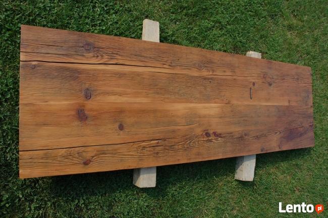 Blaty drewniane ze starego drewna Stare deski Loft Stół