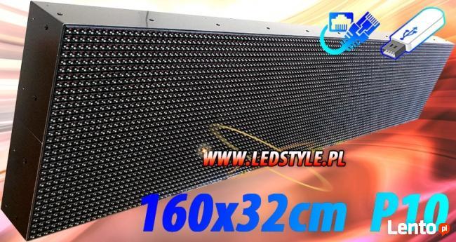 Nowość Tablica LED 160x32 P10 RGB Reklama świetlna Producent Ekran Wrocław BC68