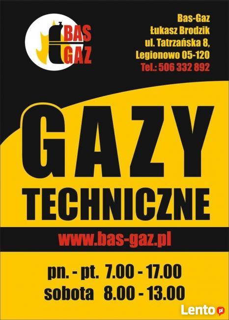 BAS-GAZ LEGIONOWO Sprzedaż Gazów Technicznych I Art. Spawaln