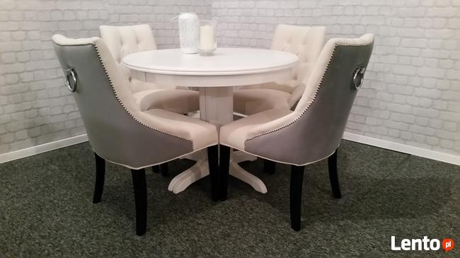 Masywnie Krzesło pikowane kołatka tapicerowane producent Świdnica BF05