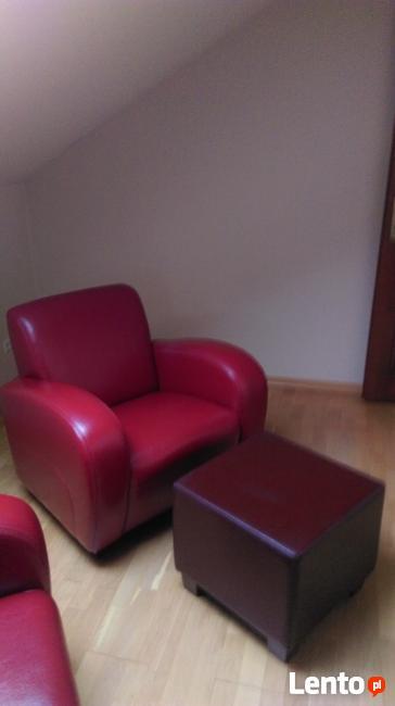 Sprzedam dwa fotele skórzane , czerwone