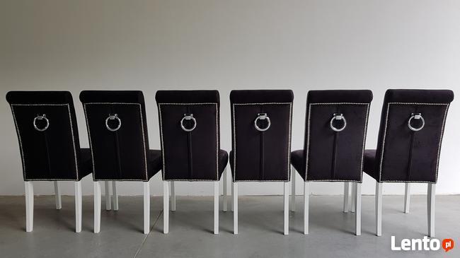 HIT!Producent Krzesło z kołatką z ćwiekami tapicerowane nowe