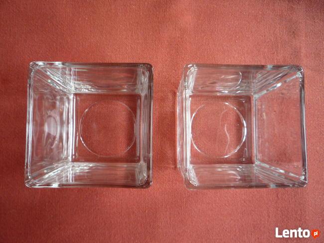 Ikea NOWE 2 Świeczniki Grube szkło na podgrzewacz