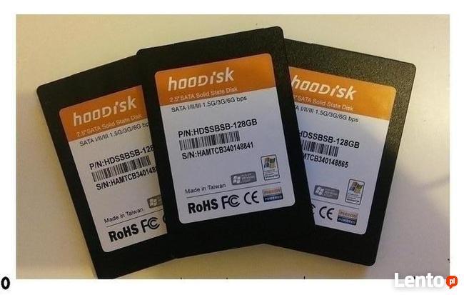 DYSKI SSD-128GB.Idealne, mały przebieg-szybkie, niezawodne.
