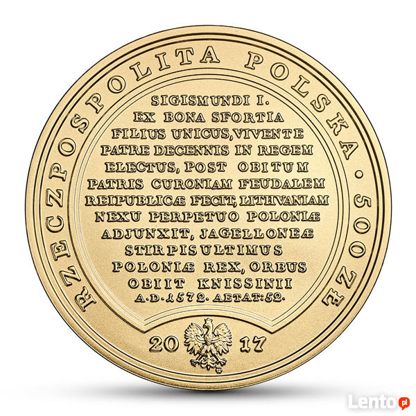 500 zł Skarby Stanisława Augusta - Zygmunt August Kolekcjon