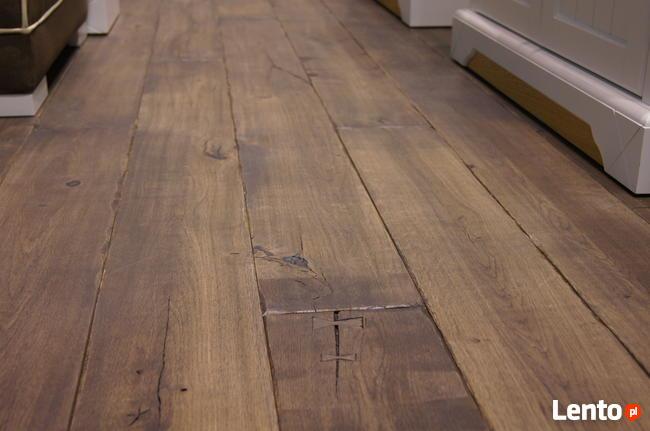 Stylowe podłogi drewniane, deska ręcznie stylizowana