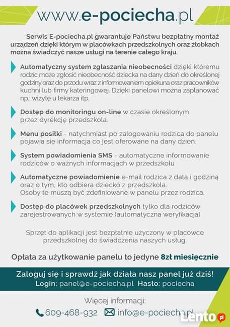 Bezpłatny Monitoring przedszkoli dla rodziców on-line 8zł
