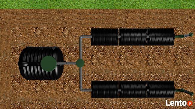 Oczyszczalnia drenażowa tunelowa ścieków 3000L