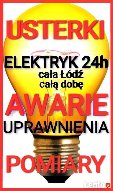 Elektryk Łódź24h AWARIE-USTERKI, pogotowie ELEKTRYCZNE Upraw.