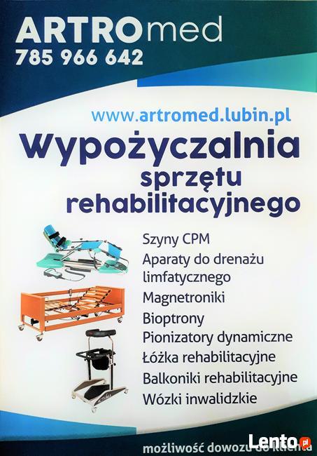 Wypożyczalnia Szyna CPM, Łóżko rehabilitacyjne, Bioptron