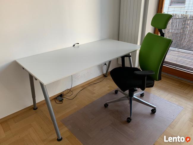 Białe biurko Galant 160 cm x 80 cm, stan idealny