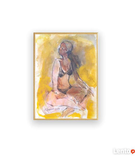 kobieta szkic, dziewczyna rysunek, grafika do sypialni