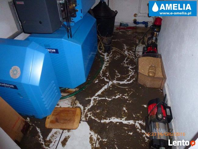 Sprzątanie po wybiciu kanalizacji zalaniu Brzesko