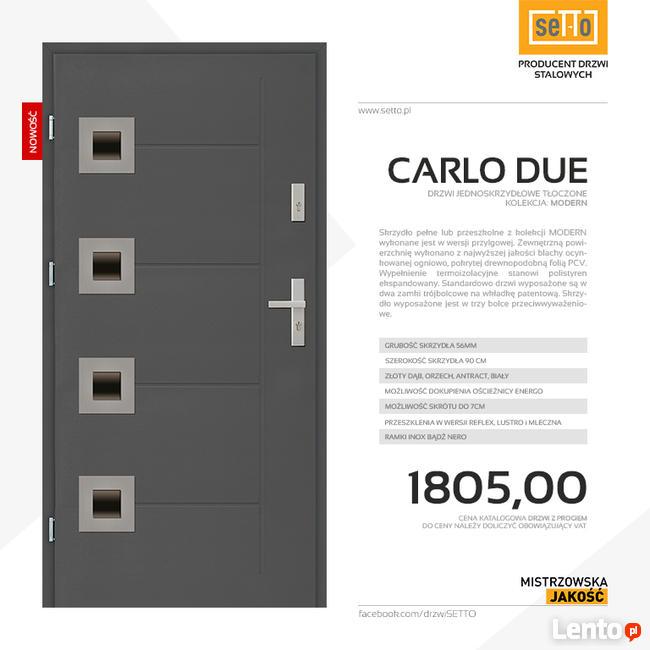 CARLO DUE MODERN drzwi zewnętrzne stalowe SETTO