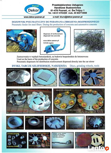 Dysk zacierający do betonu800/3 mm ze śrubami, lub zaczepami